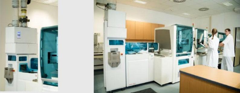 Transporte neumático de muestras y documentos